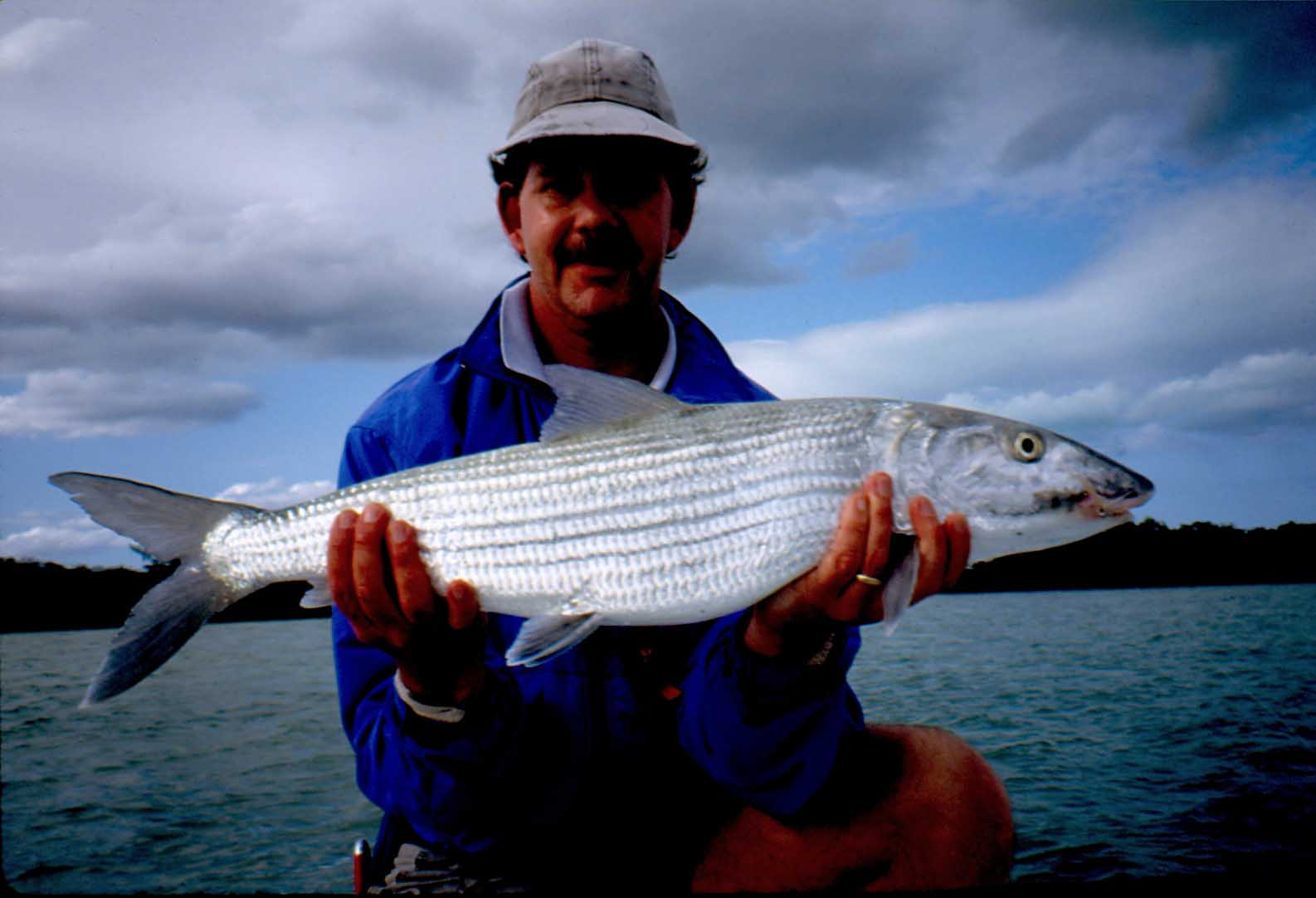 Chip Bates with a nice 12 pound Bahamas Bonefish