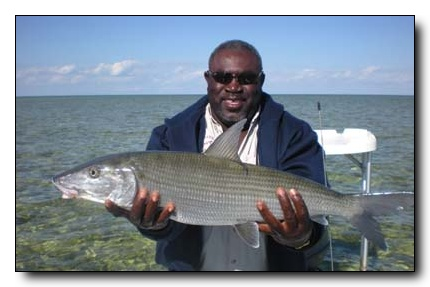 North Riding Point Guide Bully with a Huge winter bonefish
