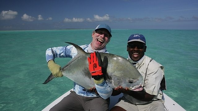 60 Pound Permit Landed on Fly in the Bahamas