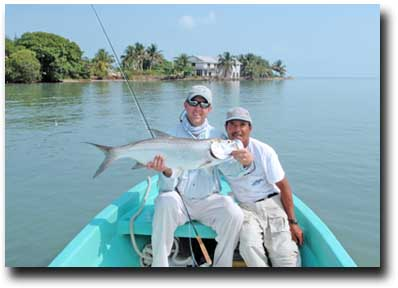 Baby Tarpon caught in the Belize River