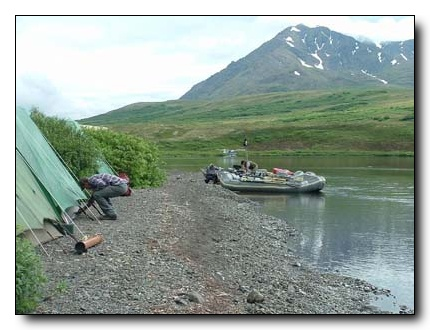 Dave Duncan and Sons Camp on the Kanektok