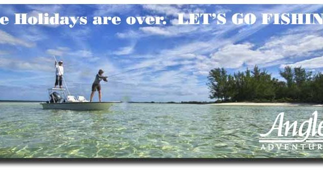 Swap That Snow Shovel for a Fly Rod! Come to Mauritius, Bahamas, or Mexico with Angler Adventures
