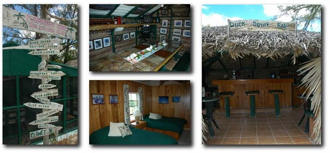 The bonefishing lodge at Flamingo Cay