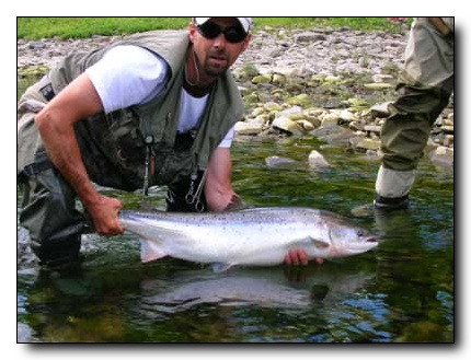 Gilles release a 19 pounder, Two Brooks