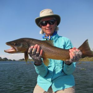 Trout Fishing Argentina Limay Brown Women Anglers Fly Fishing Andes Angler Adventures