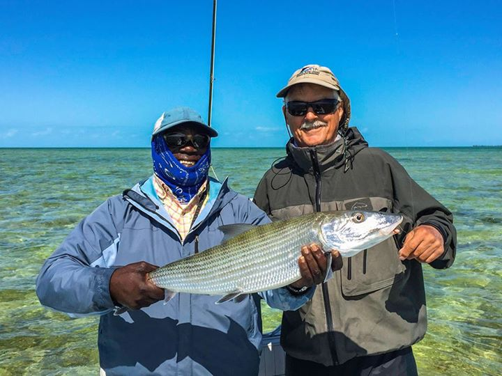 13 pound Grand Bahama bonefish North Riding Point Club Angler Adventures