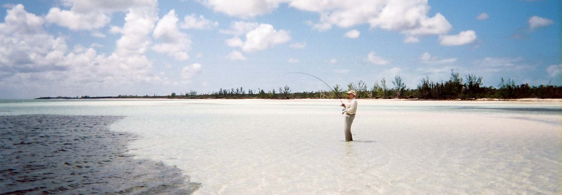 Trophy Bonefish Wading for Bonefish North Riding Point CLub Angler Adventures
